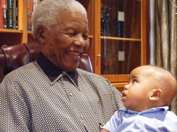 Jamal meets nelson Mandela in 2008