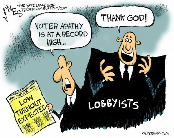 cjones Voter apathy
